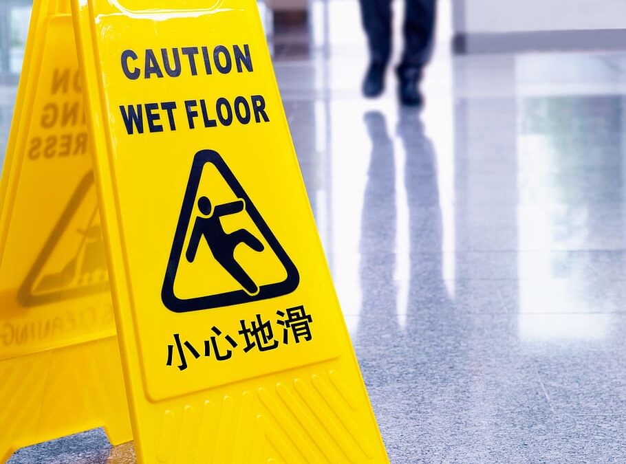 Wet floor is cause of premises liability lawsuit