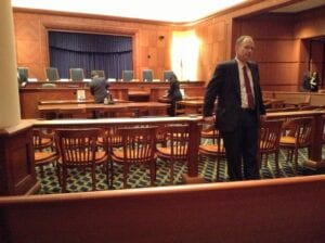 John Finbury Court Room Photo
